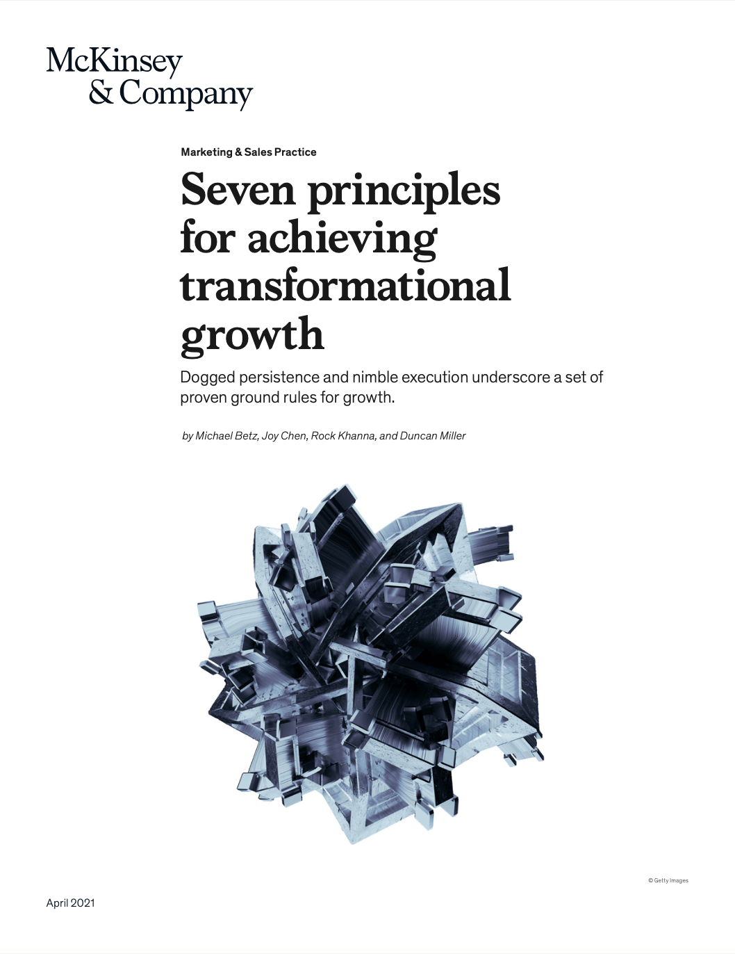 Seven principles for achieving transformational growth