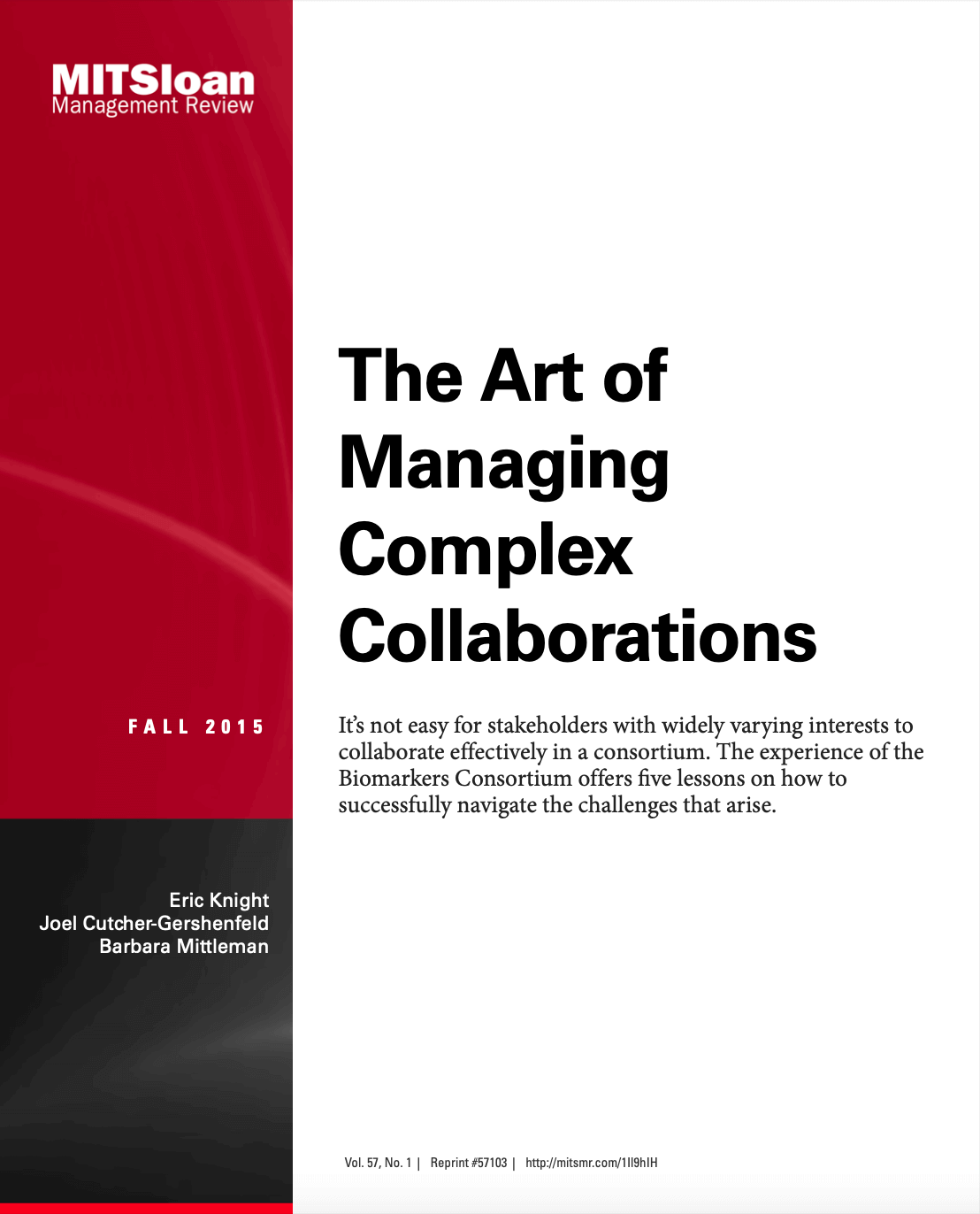 The art of managing complex collaborations